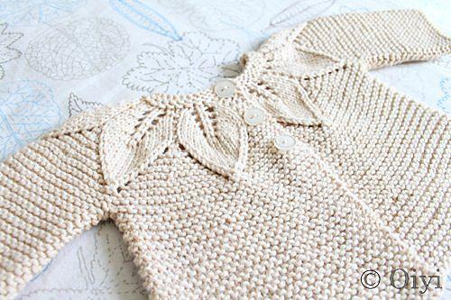 ...Leaf Pattern Set by Jeannine LaRoche, as knit by oiyi...