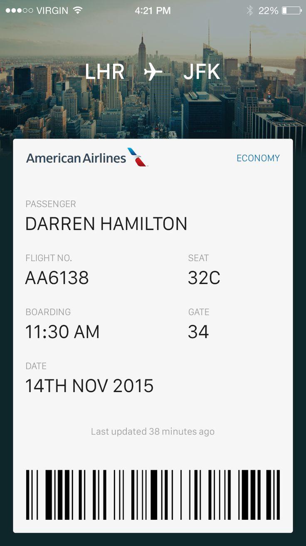 Flight ticket large
