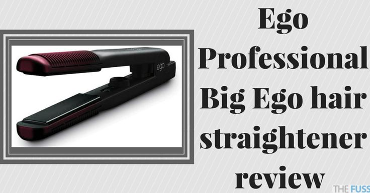 Ego Professional Big Ego hair straightener review TheFuss.co.uk