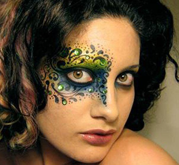 tribal gothic makeup | Makeup Face Paint Tutorials ... Gothic Fairy Makeup Designs
