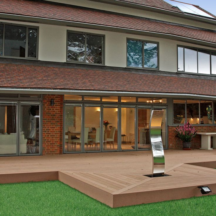Wooden nonslip terrace wpc wpcdeck deck decking