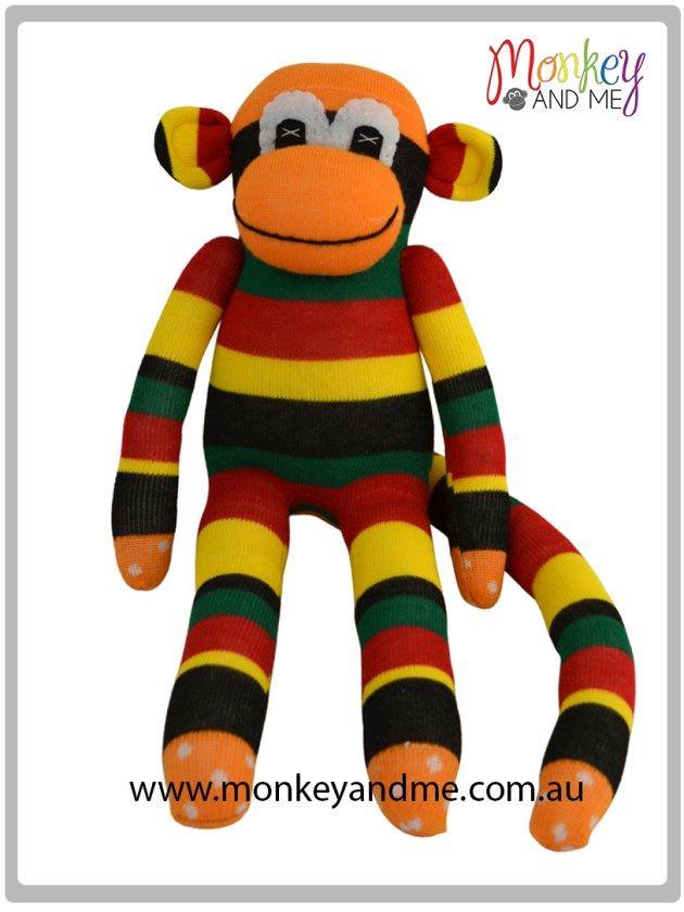 Marley the Sock Monkey  Adopt over at monkeyandme.com.au #sockmonkeys #gifts #toys