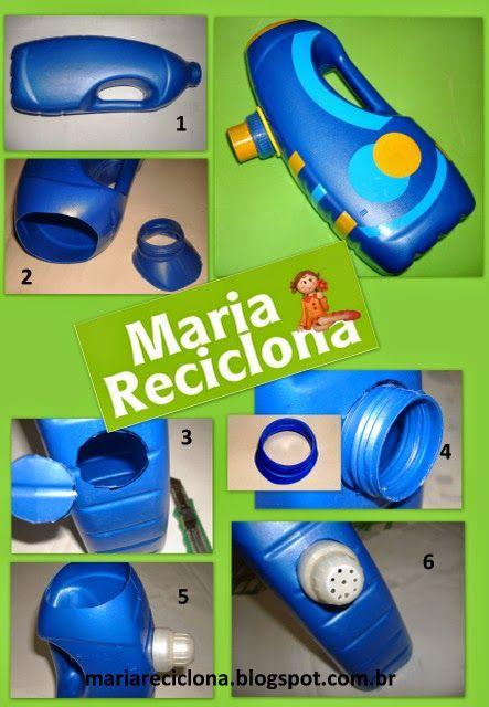 ** Maria Reciclona **: Reutilize embalagens de amaciante e saia regando por aí...