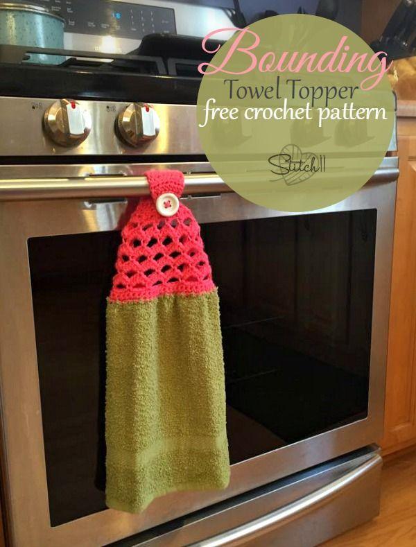 Bounding Towel Topper - Free Crochet Pattern and great idea for DIY Gifts! ༺✿ƬⱤღ https://www.pinterest.com/teretegui/✿༻