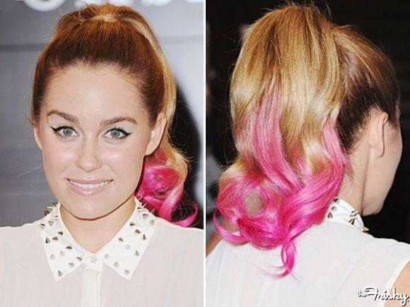 Zou jou het durven? Dip dye roze haar net als Lauren Conrad?