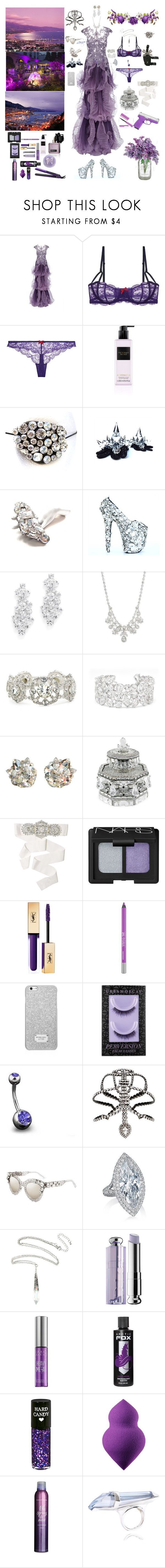 """""""Lilac Legion"""" by blackmagicmomma ❤ liked on Polyvore featuring Marchesa, Heidi Klum, Victoria's Secret, Givenchy, April Soderstrom Jewelry, Judith Leiber, Badgley Mischka, Urban Decay, MICHAEL Michael Kors and Bling Jewelry"""