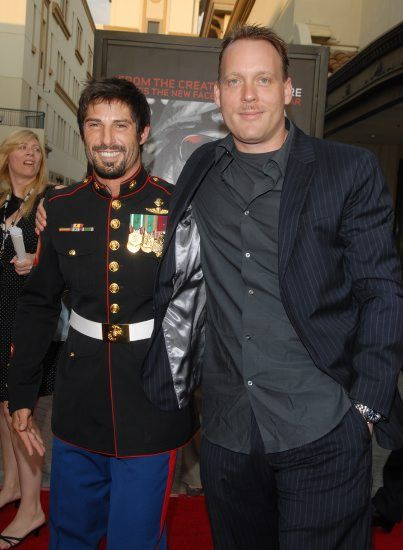 Evan Wright & Rudy Reyes at the Miniseries 'Generation Kill' Los Angeles Premiere of the HBO Films'   Paramount Theatre, Los Angeles, CA, USA July 8, 2008  Sara De Boer / Retna Ltd.