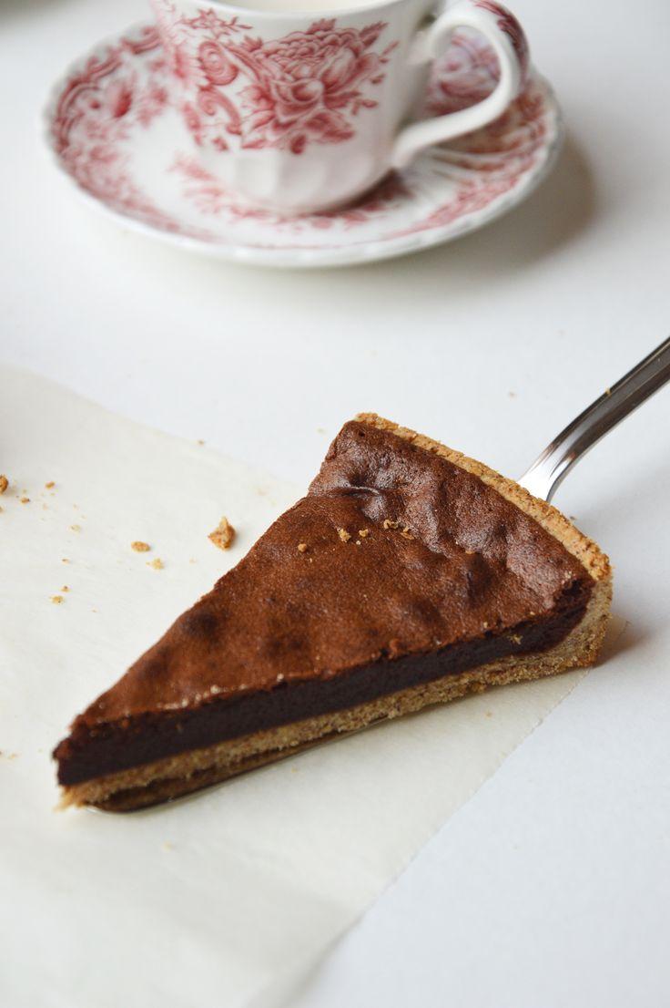 Tarte chocolat noisette - Plus une miette dans l'assiette