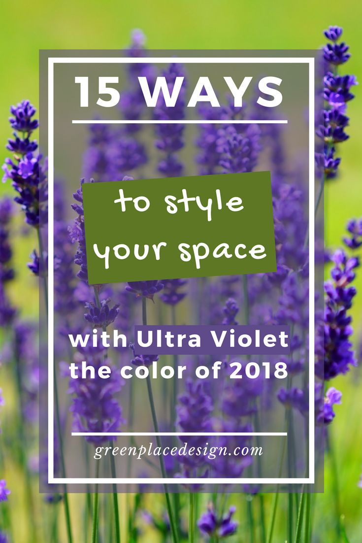 15 ways to style your space with Ultra Violet, the color of 2018 | Green Place Design | Pantone found the best way to encourage us to boost our creativity through color. This blue-based purple shade is the key for bringing the interior design to the next level in 2018. Be inspired by the best DIY ideas for your space. #thecoloroftheyear #2018 #interiordesign #homedecor #decorideas #inspiration #ultraviolet #diydecor #diy #greenplacedesign #ultravioletdecor #trends #accentcolor
