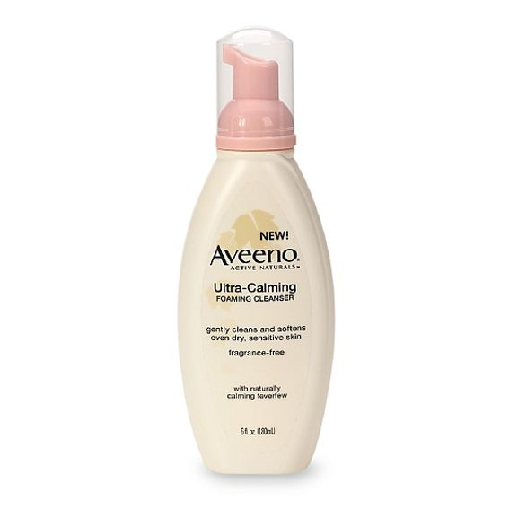 How to Choose the Best Rosacea-Friendly Beauty Products - Aveeno Ultra-Calming Foaming Cleanser  - from InStyle.com