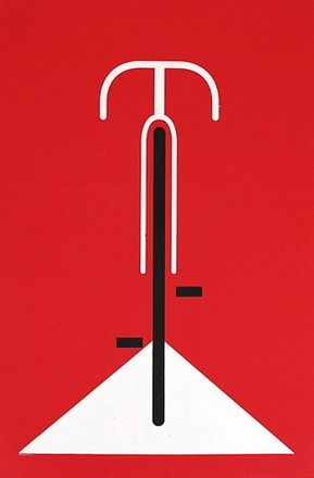 Bicycle  hand made screen print  poster measures 16 inches x 20 inches  printed on heavy 80lb paper  signed & numbered edition  artist:  Eleanor Grosch (Pushmepullyou Design)