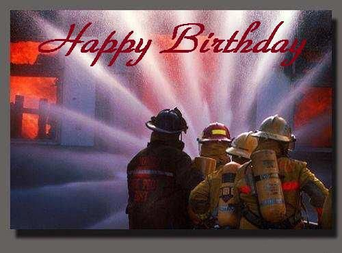 Firefighter Birthday Cads Firefighters Birthday Cards