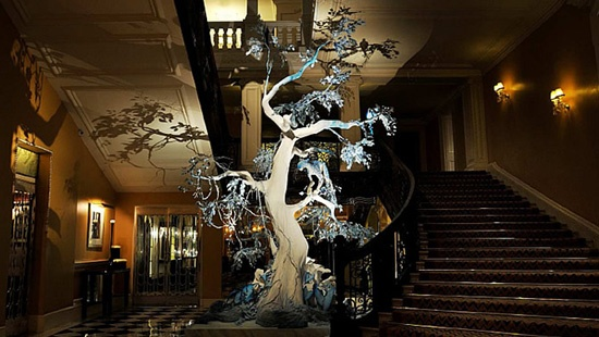Love the Christmas decor at Claridge's Hotel, London