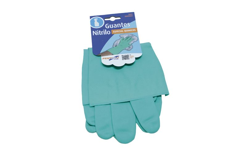 Guantes nitrilo especial - Ideal para industria química y pinturas / www.pentrilo.com / Special Nitrile Gloves - Gloves for chemical industrie and paint ---- (Ref. 08217)