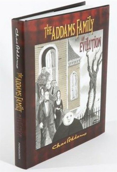 The first book to trace the evolution of the Addams Family characters, An Evilution, was released in conjunction with the 2010 broadway show, Addams Family Musical. Comprised of over 200 cartoons created by Charles Addams, including some never before published, each chapter shows a chronology of each character through the years, tv show and movies.