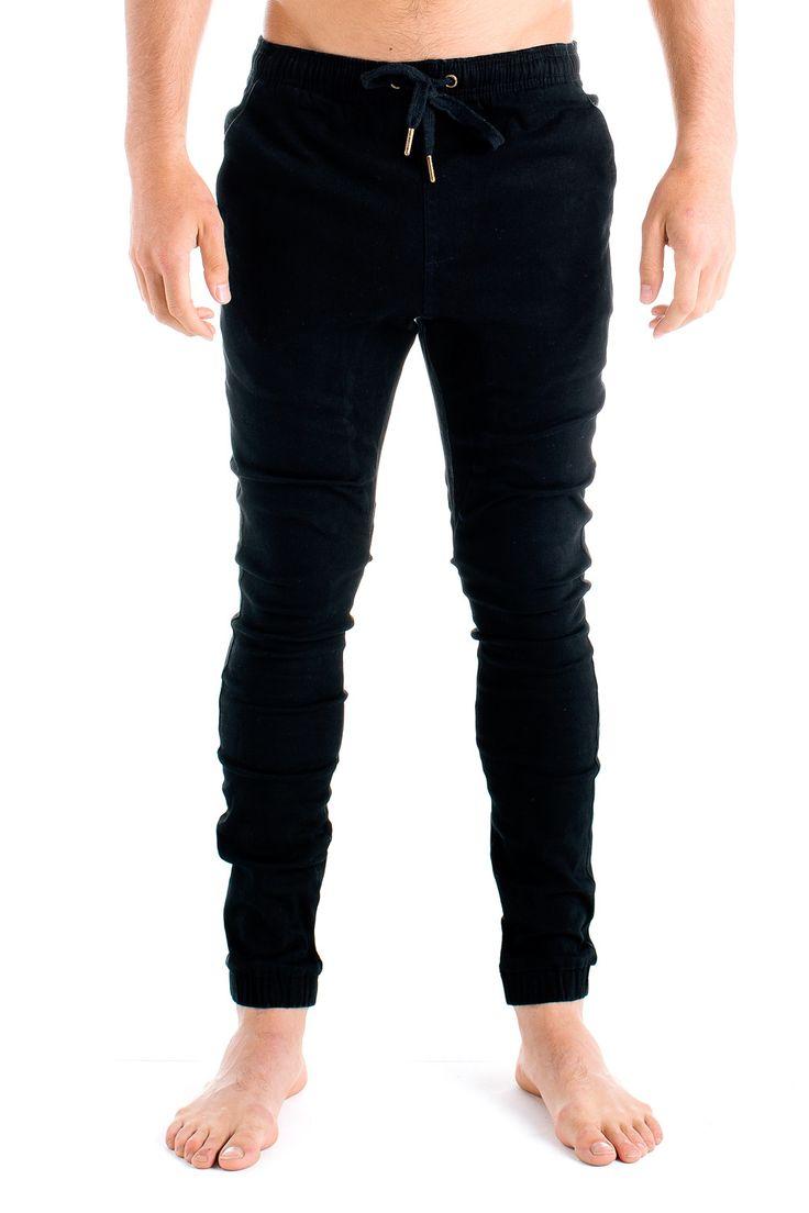 Mens Beach Pants Black - Monsta Surf - 2
