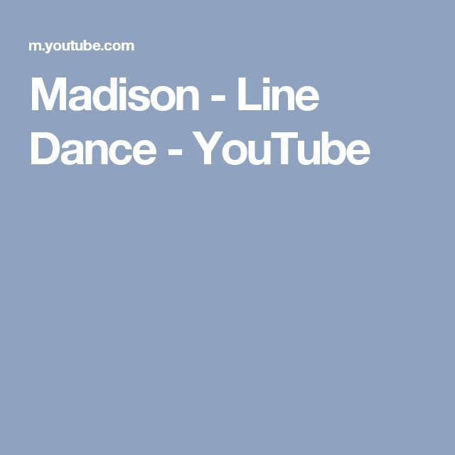 Madison - Line Dance - YouTube