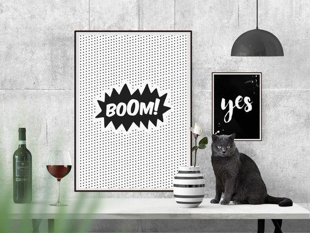 **Kunst für jedermann! Artprint mit Herzblut der garantiert (!) deinen Wohnraum aufhübscht. Unsere Pop Art Poster haben wir in reinster Feinarbeit illustriert: Für deine Wand nur das...