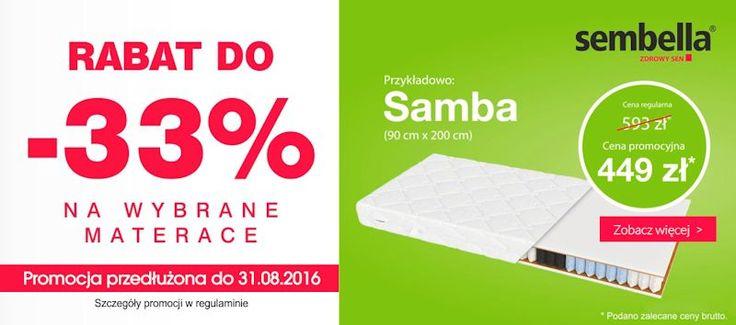 33% rabat na wybrane materace w naszym salonie. Więcej szczegółów na naszej stronie internetowej: http://www.meble-nowrot.pl/promocje https://www.diigo.com/profile/meble-nowrot