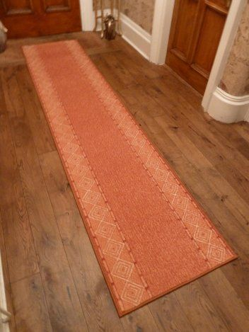 mali terracotta hallway carpet runner
