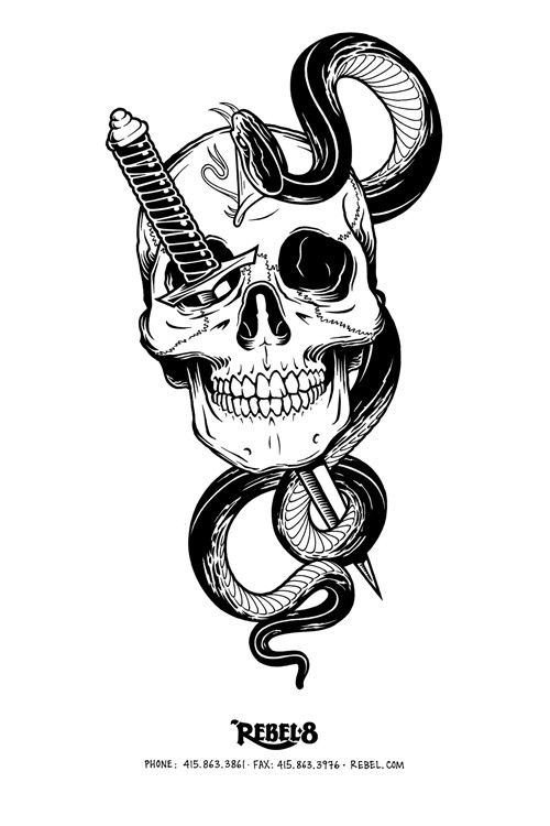 Mike giant skulls #inspiration #illustration #skull