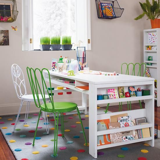 Our kids playroom furniture is designed to work in any room of the house while still being an outlet of creativity for your kids.