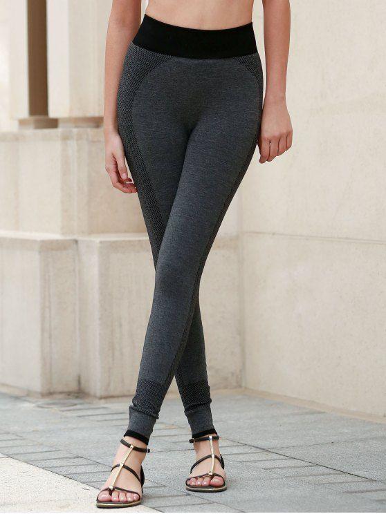 Breathable Tight Yoga Pants - DEEP GRAY S