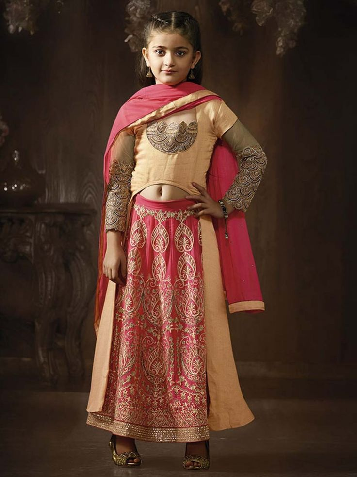 Eye-catching outfit will add a regal touch to your personality. Item Code: KDSRA8080 http://www.bharatplaza.com/kids/girls.html