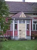 Porch in Kälviä. Central Ostrobothnia province of Western Finland - Keski-Pohjanmaa
