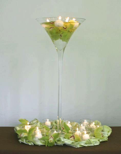 Best wine glass centerpieces images on pinterest