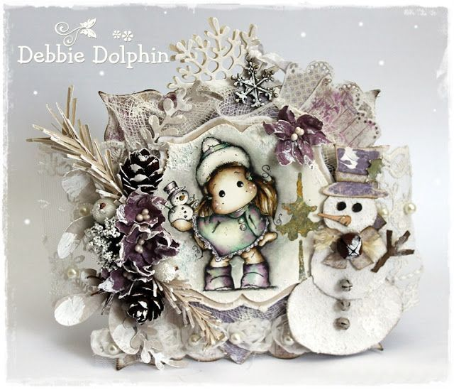 Magnolia cards by Debbie: Tilda with Snowman