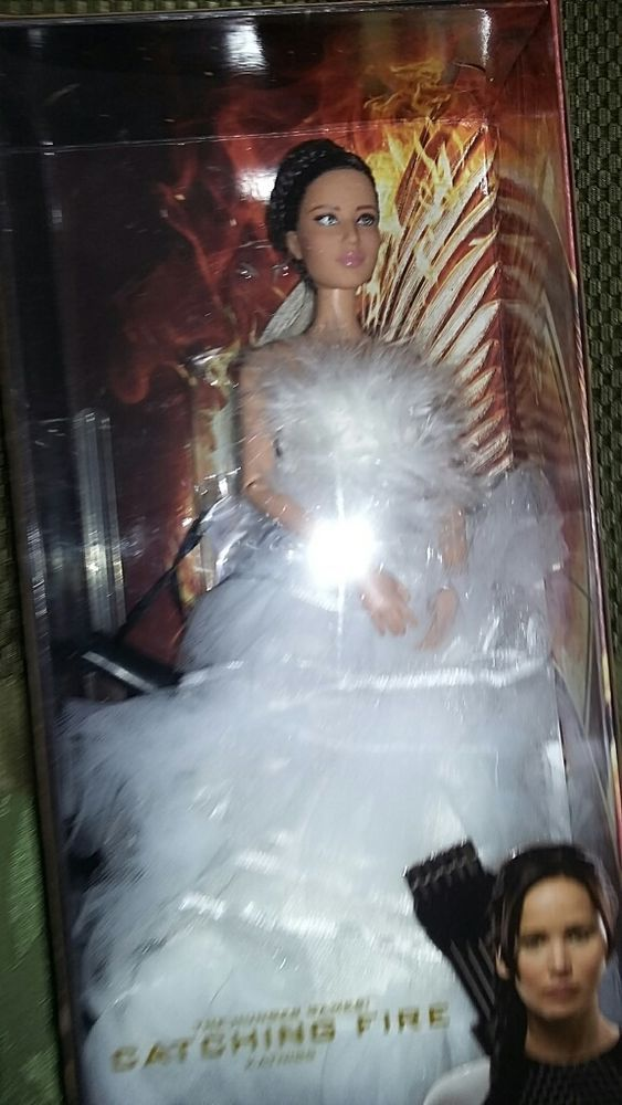 OOAK Katniss Barbie Doll The Hunger Games Bride Wedding Dress Catching Fire New