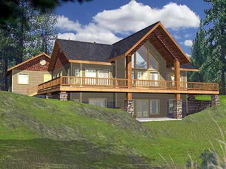 Plan 35221GH: King Of The Hill. Log Cabin House PlansRustic ...