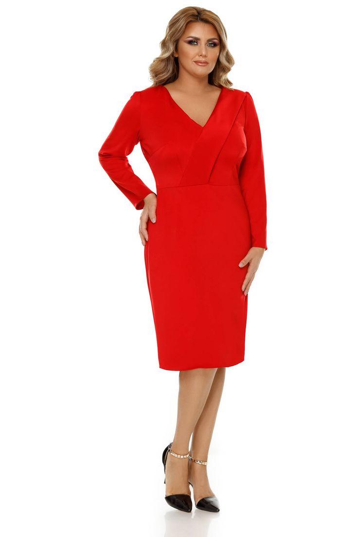 Rochie Plus Size Camila Rosie - Pentru un look elegant și seducător alege rochia plus size Camila în nuanțe vibrante de roșu, o piesă vestimentară care se încadrează perfect în peisajul unei ocazii festive sau unui eveniment special, putând fi cu ușurință accesorizată corespunzător și pentru un look de zi. Concepu