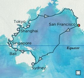 The 25 best hawaii on world map ideas on pinterest water color grand pacific panorama map world cruise 102 days at sea 36k per gumiabroncs Gallery