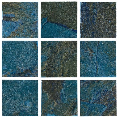 """Coral - Teal 2"""" x 2"""" Coral series tile from NPT. A bolder earthy tile with moderate variance. Multiple color choices in 2""""x2"""" and 6""""x6"""" with optional accent tiles."""