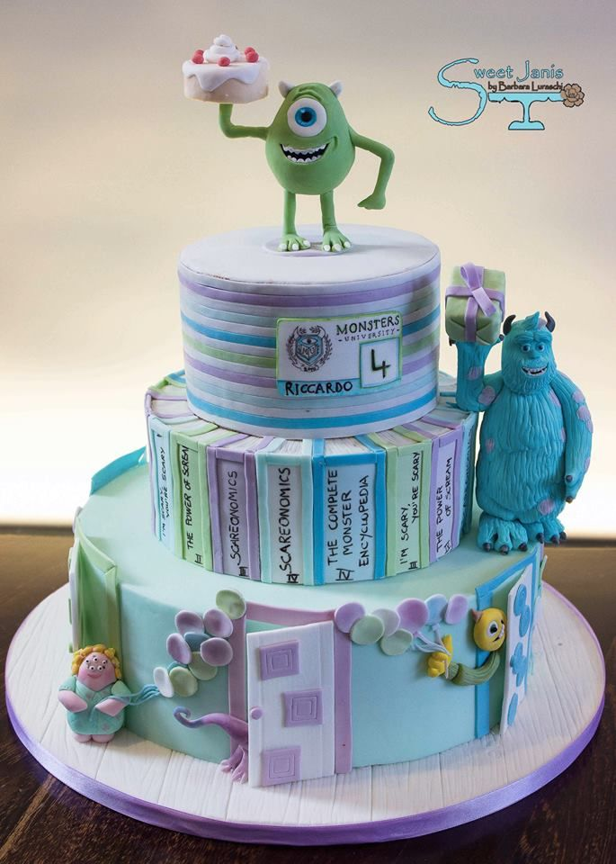 39 best Cakes Monsters e co images on Pinterest Monster inc cakes