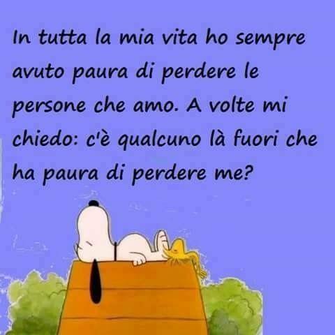 ✔ Snoopy: perdere le persone che amo