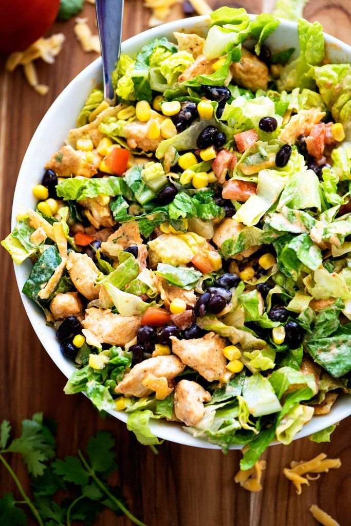 Tex-Mex Chicken Chopped Salad - Life In The Lofthouse