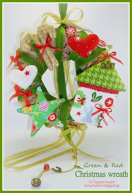 Το τυχερό κουμπί: Χριστουγεννιάτικα στεφάνια, αποχρώσεις κόκκινου κα...