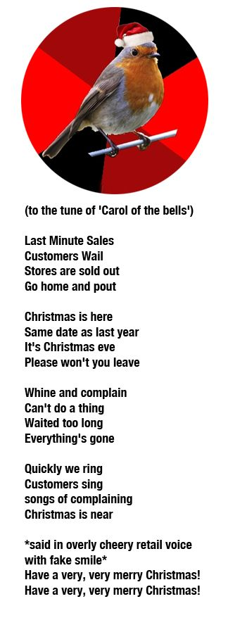 that's right people...SAME DATE EVERY YEAR!!!! Christmas does not sneak up on you. Try shopping early maybe?
