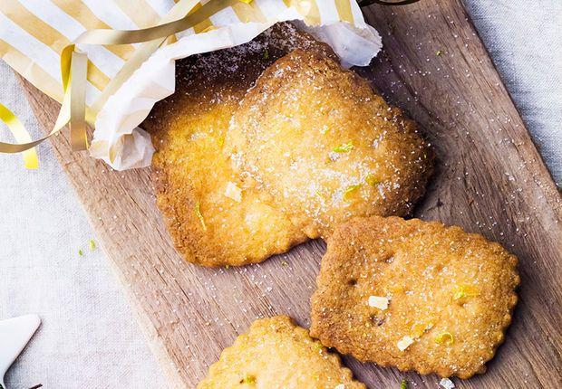 Shortbreads au citron vert et au gingembre Découvrez la recette desShortbreads au citron vert et au gingembre