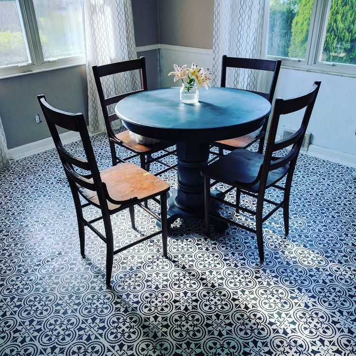 25 best ideas about stenciled dining table on pinterest