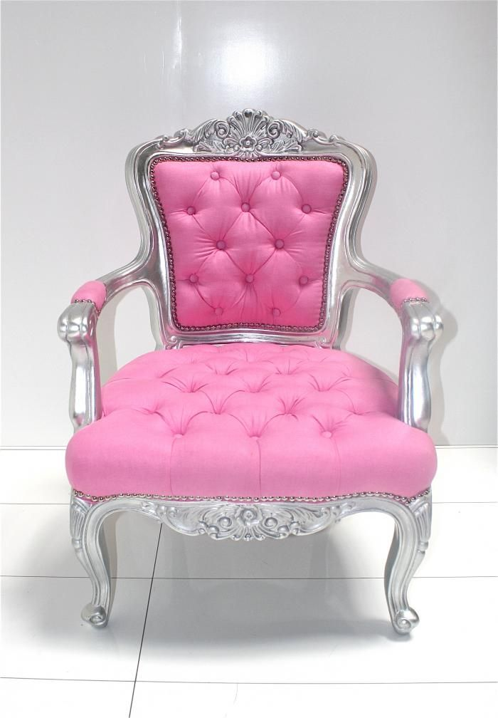 Custom Tufted Pink Philippe Chair
