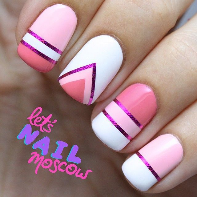 gentle-manicure-with-purple-stripe