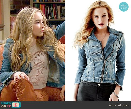 Maya's denim jacket on Girl Meets World. Outfit Details: http://wornontv.net/52944/ #GirlMeetsWorld
