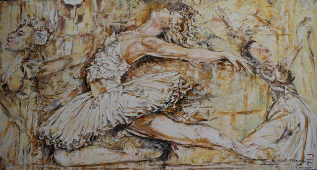 Passi di danza -185x100- acrilico su tela