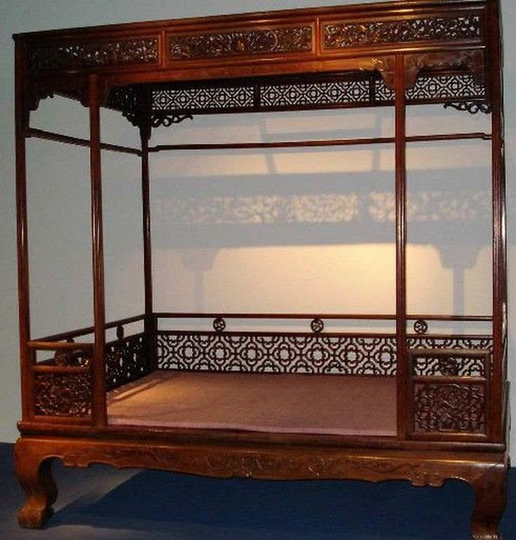 30 Traditional Chinese Bed Canopy Design Ideas With Woods With