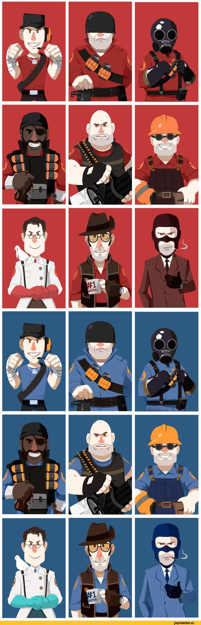 Team Fortress 2,Team Fortress,Игры,Медик,шпион,скаут,инженер,Пулемётчик,снайпер,Пиро,солдат,Игровой арт,game art,подрывник,spy,medic,поджигатель,синие,красные,наёмники корпорации Надёжных Раскопок и Подрывных Работ,наёмники Объединённой Лиги Строителей
