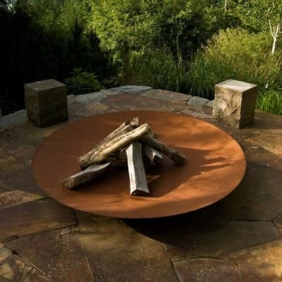 Corten Steel Fire Pit More